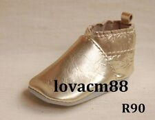 *R90 GOLD RUJI baby infant toddler adult man cow soft leather crib shoe slipper