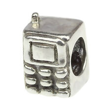 Authentic 925 solid Sterling Silver charm Phone bead For 3mm European Bracelet