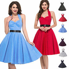 2015 HOUSEWIFE RETRO STYLE POLKA DOT 50's 60s VICTORIAN VINTAGE ROCKABILLY DRESS