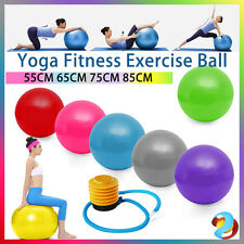 Swiss Ball YOGA Home GYM Exercise Pilates Equipment Fitness Ball 55 65 75 85cm