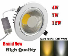 4W 7W 12W LED Cabinet Lamp COB SHARP Recessed Ceiling Downlight 800LM Warm White