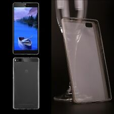 0.3MM TPU Ultra-thin Clear Crystal Grey  Case Cover For HUAWEI P8 lite