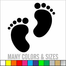 2 Baby Feet Sticker, Wall, Window, Car Truck Sticker Decal  - Colors & Sizes
