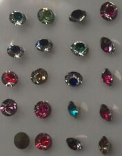 Choose Color Mix High quality Point back Rhinestone Crystal Glass Chatons Strass