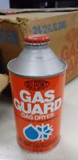 FULL VINTAGE DUPONT GAS GUARD GAS DRYER CONE TOP CAN NEAR MINT
