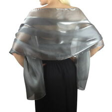 MON - Silky Iridescent Bridal Bridesmaid Wedding Prom Shawl Stole Wrap Pashmina