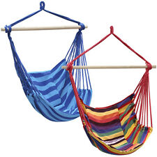 New Hanging Rope Chair Outdoor Porch Swing Yard Tree Hammock Cotton Polyester
