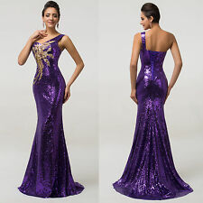 Sexy Long SEQUINS Mermaid Evening Formal Party Bridesmaid Prom Gown SLIM Dresses