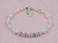 PERSONALISED .925 Silver Mothers BRACELET Name Birthday Mother's Day GIFT Boxed