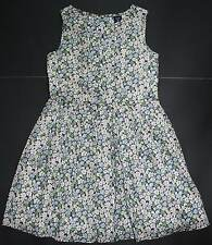 NWT Gap Kids 2015 Willow Floral Pleated Dress Blue Pink 8 M