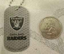 New NFL Oakland Raiders Gray Logo Dog tag Key chain or Necklace Gift Party