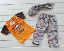 baby.Boys Casual Summer Monkey Leggings & T-Shirt  Hat Outfit Set sku334