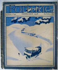 """Original Feb. 1934 """"Fortune"""" Magazine Cover Page w/ Snow Truck Clearing Snow"""