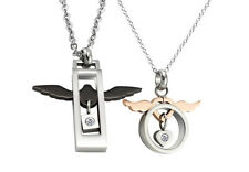 Love Romantic Wing Necklace Stainless Steel Promise Lover Pendant Gift Fashion