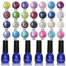Manicure Art Stylish Soak Off UV Nail Gel Polish Base Top Coat Varnish Glitter