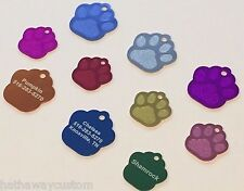 Pet Tag ID Paw Print Dog Tag Collar Personalized Engraved Cat Tag Pet Name Tag