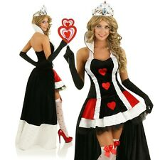 Adult Evil Red Queen of Hearts Alice In Wonderland Dress Up Party Outfit Costume