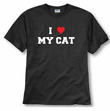 I love my Cat T-shirt lover dogs cats animals vets veterinarian Tee shirt