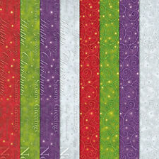 "Craft Creations Scrapbook Paper Christmas Scrolls & Words Design 12""x12"" 120gsm"