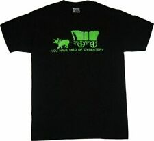 Adult Men's Oregon Trail Video Game You Have Died of Dysentery Black T-Shirt Tee