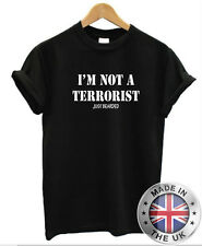 IM NOT A TERRORIST just bearded T-Shirt Mens beard moustache movember