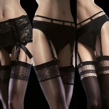 Fiore Obsession Collection Garter Stockings Plain or Patterned Top Hosiery