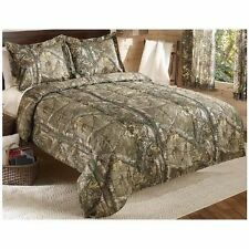 Real Tree Camo Camouflage Bedding Full Queen King Set Blanket Quilt Pillow Shams