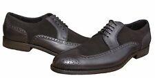 Hugo Boss Mens Branno Italian Brogue Wing Tip Business Casual Dress Shoes