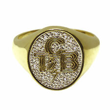 Elvis Presley - Oval TCB Ring - Gold Plated