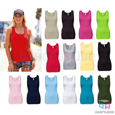 Alstyle Triple A Women's Juniors Ribbed Tank Top Sleeveless Plain Stretch Shirt