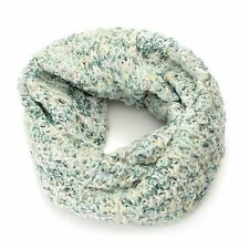 Collection XIIX Chunky Open Knit Variegated Metallic Detailed Cowl Scarf
