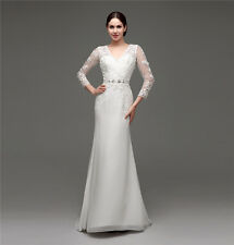 2015 A-line Wedding Dress White Ivory Bridal Gown Custom Made Cheap In Stock New