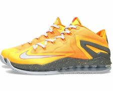 "NIKE AIR MAX LEBRON 11 XI LOW 2014 ""FLORIDIAN"" MANGO BASKETBALL SHOES 9 ORANGE"
