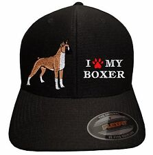 I LOVE MY BOXER - Embroidered Flexfit Cool & Dry Tricot baseball cap hat