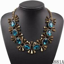 2016 new design fashion crystal statement necklace bib choker chain necklace