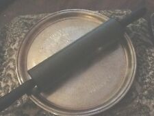 "BLACK NON STICK ROLLING PIN 10"" MAIN PART 18.5"" END TO END"