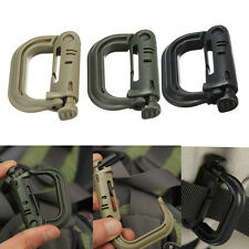 EDC Carabiner Shackle Tactical Safe Buckle Molle Backpack Locking Snap D-ring