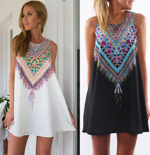 New Sexy Women Summer Casual Sleeveless Party Evening Cocktail Floral Mini Dress