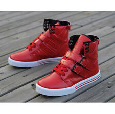 British style Mens Lace Up Buckle Strappy Hip-Hop Flat Sneakers Skateboard Shoes