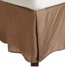 New Bed Skirt/Valance Egyptian Cotton 1000 TC Size For ~US Taupe Solid