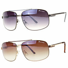 Classic Retro Mens Fashion Metal Aviator's Vintage Designer Sunglasses Black NEW