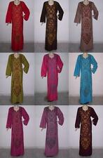 Egyptian Cotton Embroidered Kaftan Caftan long Dress Abaya Jilbab #DM