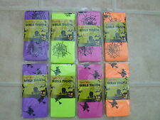 Girls Halloween Tights -Spiderweb or Witch Design - Various colours - Ages 4 -14