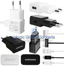GENUINE SAMSUNG EUROPE EU CHARGER & USB DATA CABLE FOR GALAXY TAB NOTE MOBILES
