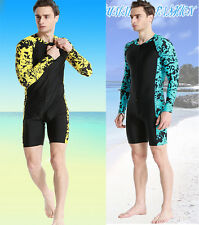 Men's Lycra Rash Guards Diving Suit Snorkeling Surfing Swim Jumpsuits Dive Skin