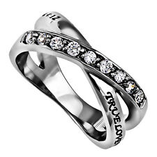 True Love Waits Purity Ring, Chastity Christian Bible Verse, Stainless Steel
