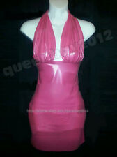 100% Latex Rubber Gummi 0.45mm Dress Skirt Catsuit Suit Party Evening Pink