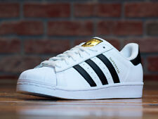 ADIDAS SUPERSTAR WHITE BLACK MEN'S C-77124 LIMITED QS DS RARE LEATHER RUN DMC
