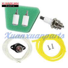 Gas Fuel line filter air filter primer Bulb Poulan Craftsman chainsaw Spark Plug