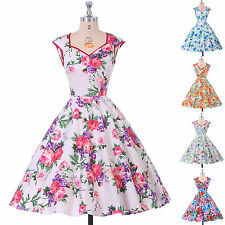 SUMMER Vintage Style Rockabilly DRESSES 50s 60s pinup Housewife Swing Prom Dress